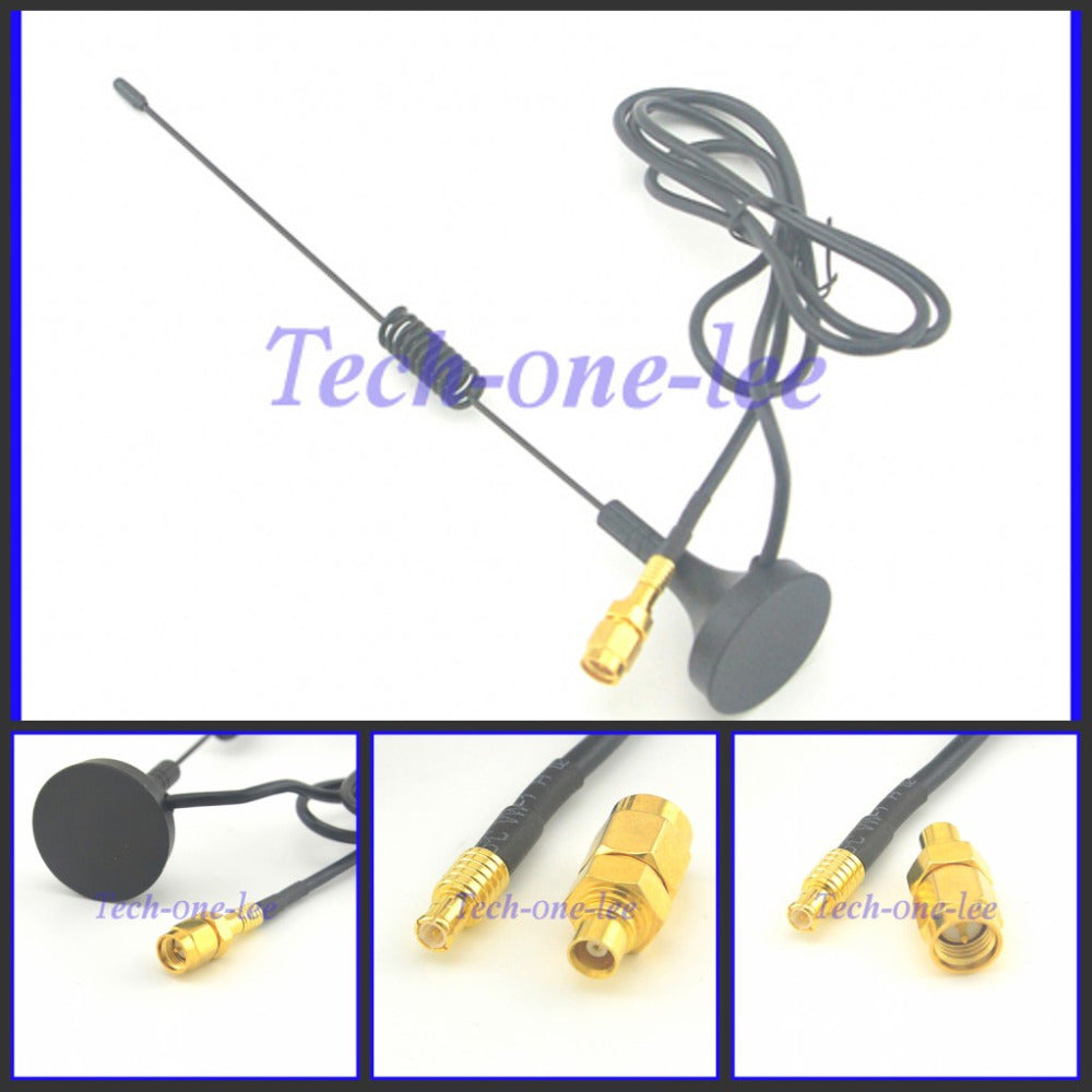 1090Mhz Antenna MCX Plug Connector 2.5dbi gains ADS-B Aerial with Magnet Base RG174 1M+MCX Female to SMA male Adapter Connector