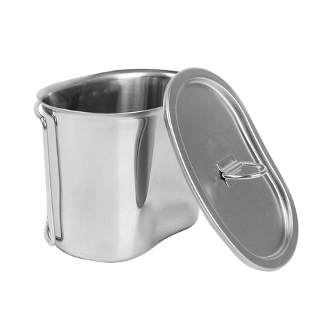 Manufacture Best Price Rover Camel GI Style Stainless Steel Canteen Military Cooking Cup Camping Cooking Cup with Handles RC321