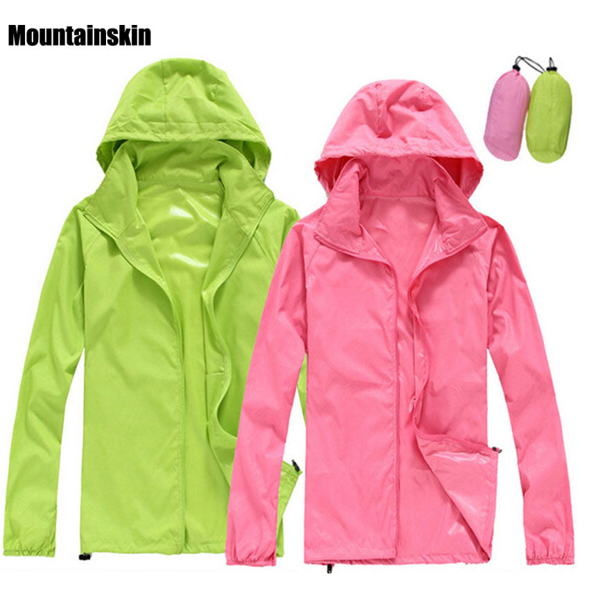 2017 Men Women Quick dry Hiking Jackets Outdoor Sport Skin Dust Coat Thin Waterproof UV Protection Camping Coats Asian 3XL RW011