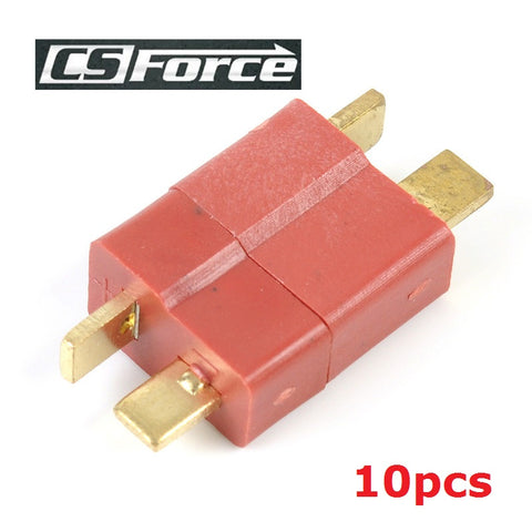 10pcs/lot T Plug Connector Male and Female For Deans RC Lipo Battery Helicopter Plastic and Metal Airsoft Military Tactical