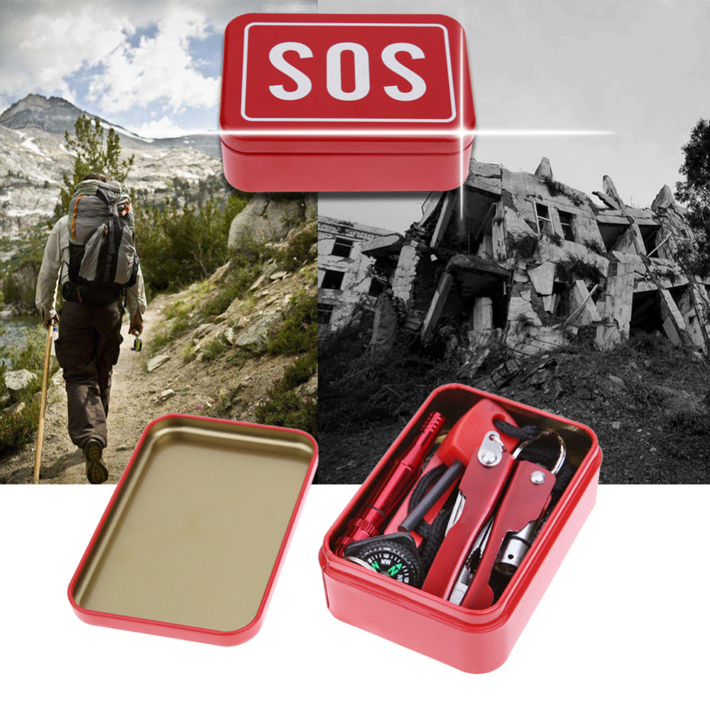 1 set Self Help Emergency Equipment SOS Kit Car Earthquake Emergency Supplies SOS Outdoor Camping Survival Tool Survival Gear