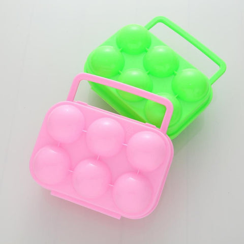 Waterproof Shockproof Plastic Portable 6 Eggs Holder Carrier Egg Storage Tray Box For Outdoor Camping BBQ
