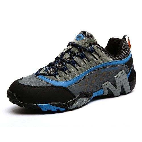 Men Rubber sole walking climbing  shoes breathable hiking shoes  non-slip shoes