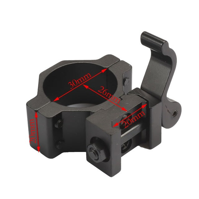 "1"" 25.4/ 30 mm High Ring 20mm Weaver Picatinny Rail QD Quick Release Scope Mount Hunting Caza"