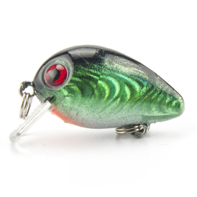 1 PCS  Crankbait Plastic Wobbler Fishing Lure China 3CM 1.5G Swimbait Pesca Isca Artificial Bait 10# Hooks  Fishing Tackle