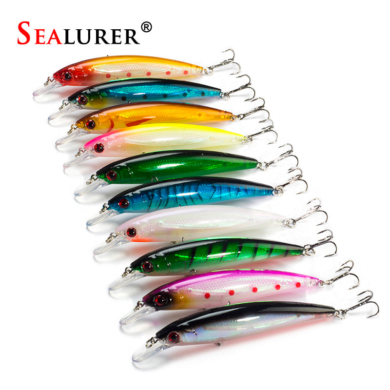 10PCS/LOT 13.5G 11CM Fishing Lure Minnow Lures Hard Bait Pesca Fishing Tackle isca artificial 10 Colors Quality Hook Swimbait