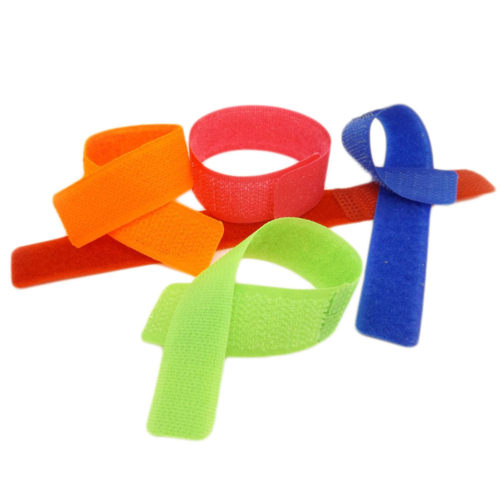 10pcs/bag 180x21mm Colorful Reusable Magic Tape Ties Cord Lead Straps TV Computer Cable Wire Organiser Management Marker