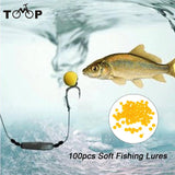 100Pcs/Box Carp Bait Floating Fishing Lure 10/8mm Corn Flavor Artificial Baits Carp Fishing Accessories Fish Beads Feeder