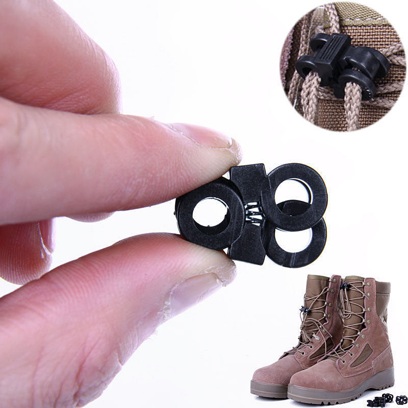 10Pcs Outdoor Shoes Lace Antiskid Buckle Survive Kit Plastic Gear Multi-function Camping Hiking Tools P15
