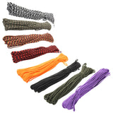 100FT 7 Cord Strand Paracord 550 Parachute Cord Lanyard Rope Mil Spec Cuerda EDC GEAR Carabiner Camping Survival Kit Equipment