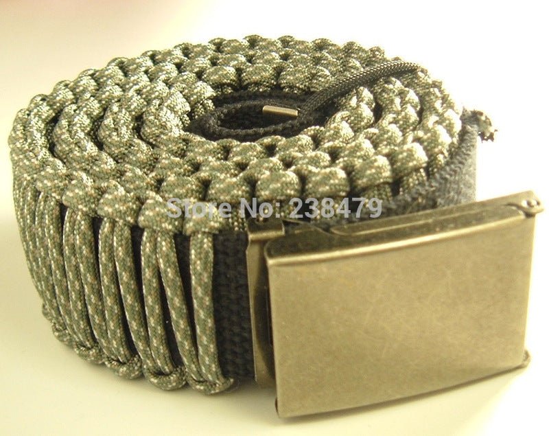 "1 3/4"" Paracord Survival Belt(45ft+ Cord)-Adjustable Flip-top Buckle-8 Colors-4 Sizes-Reversible-unisex"