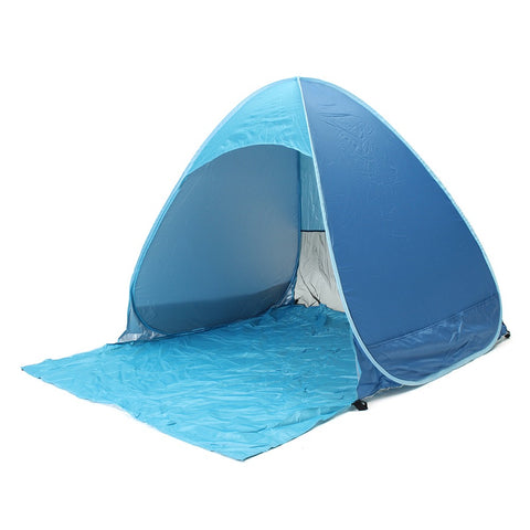 1set Full Automatic Tent blue  beach tent festival shelter children UPF 40 sun screen wind break fishing garden quick open tent
