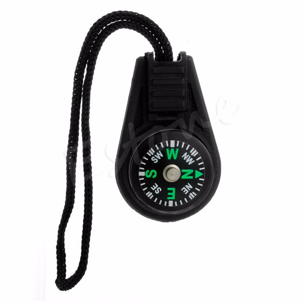 5 X Zipper Pull Mini Compass Backpack Bag Strap Camping
