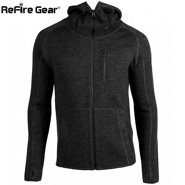 Gear Praetorian Wool Hoodie Tactical Jacket Men Autumn Woollen Army Military Jacket Sportswear Cardigan Coat Casual Mens Clothes