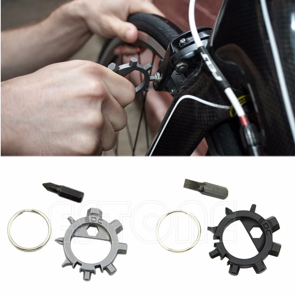 10in1 Multi Bicycle Tool Screwdriver Bottle Opener Keychain Outdoor Survival Camping EDC