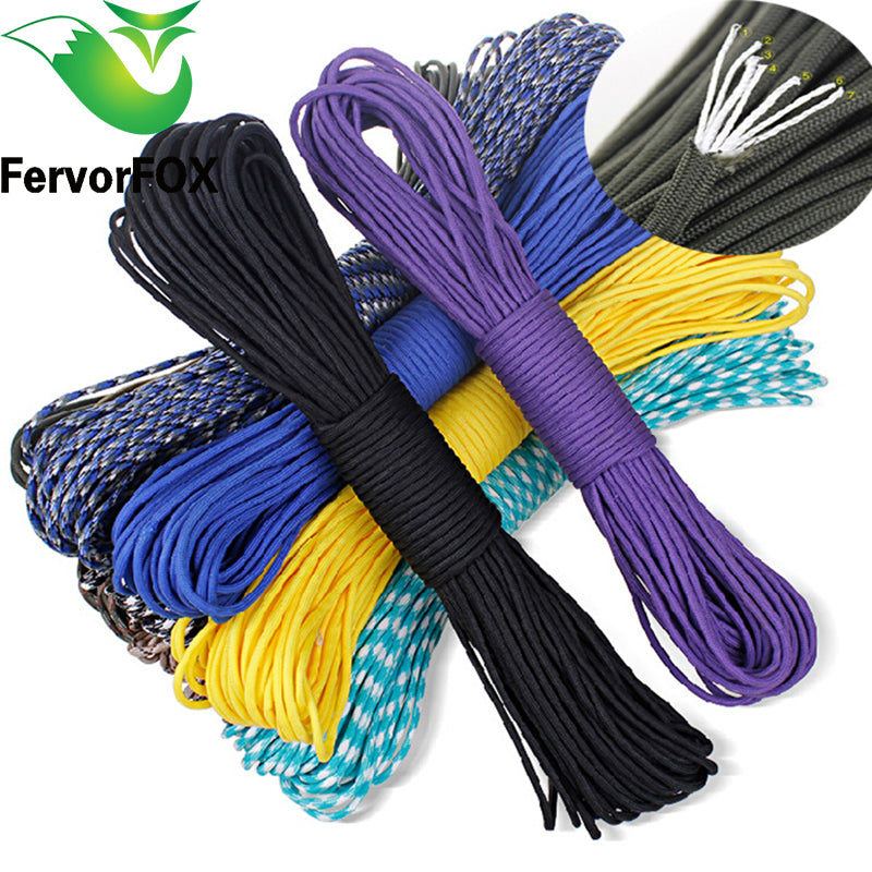 100Meter Paracord 550 Paracord Parachute Cord Lanyard Rope Mil Spec Type III 7Strand Climbing Camping survival equipment