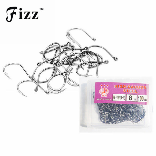 100pcs/box Circle Fishing Hooks High Carbon Steel Barbed Fishhooks #3-#12 Carp Fishing Hooks Fishing Accessories Tackle On Sale