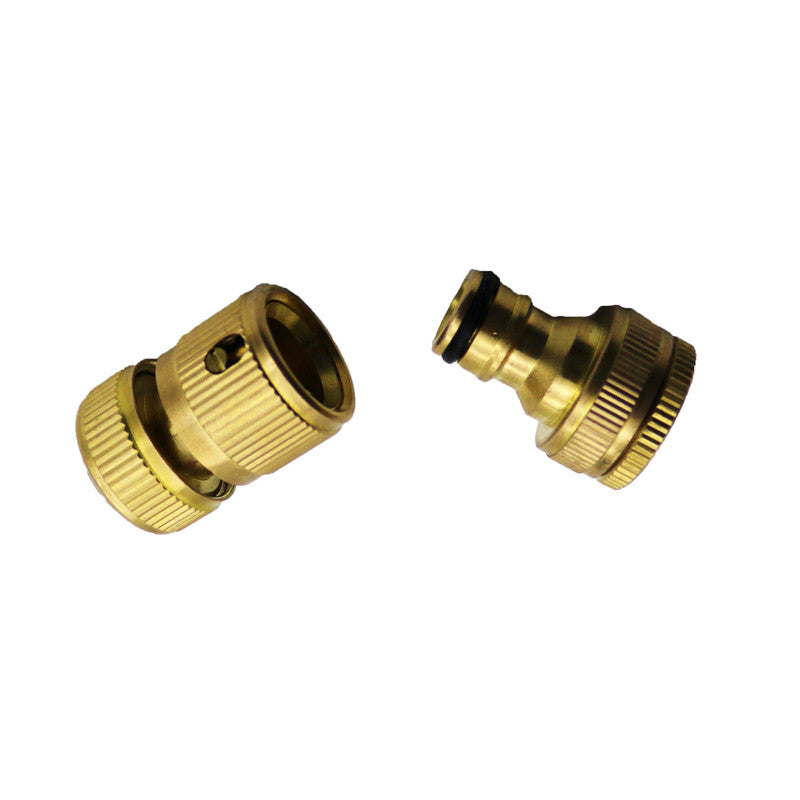1 Set Of Copper Faucet Washing Machine Water Gun Fittings Standard Seal Fittings Hose Connectors For Irrigation Systems