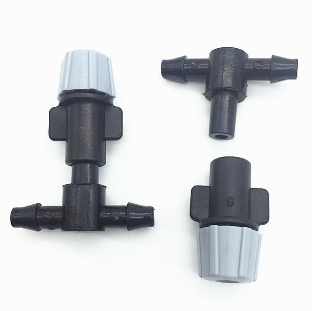 100 Pcs Agriculture Garden Fog Nozzle Series 4/7 Barb Connectors And Lawn Irrigation System Water Cooling Plant Components