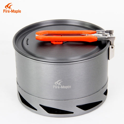 Hot Sale 1.5L Portable Heat Exchanger Pot Outdoor Camping Kettle Picnic Cookware Fire Maple K2 338g