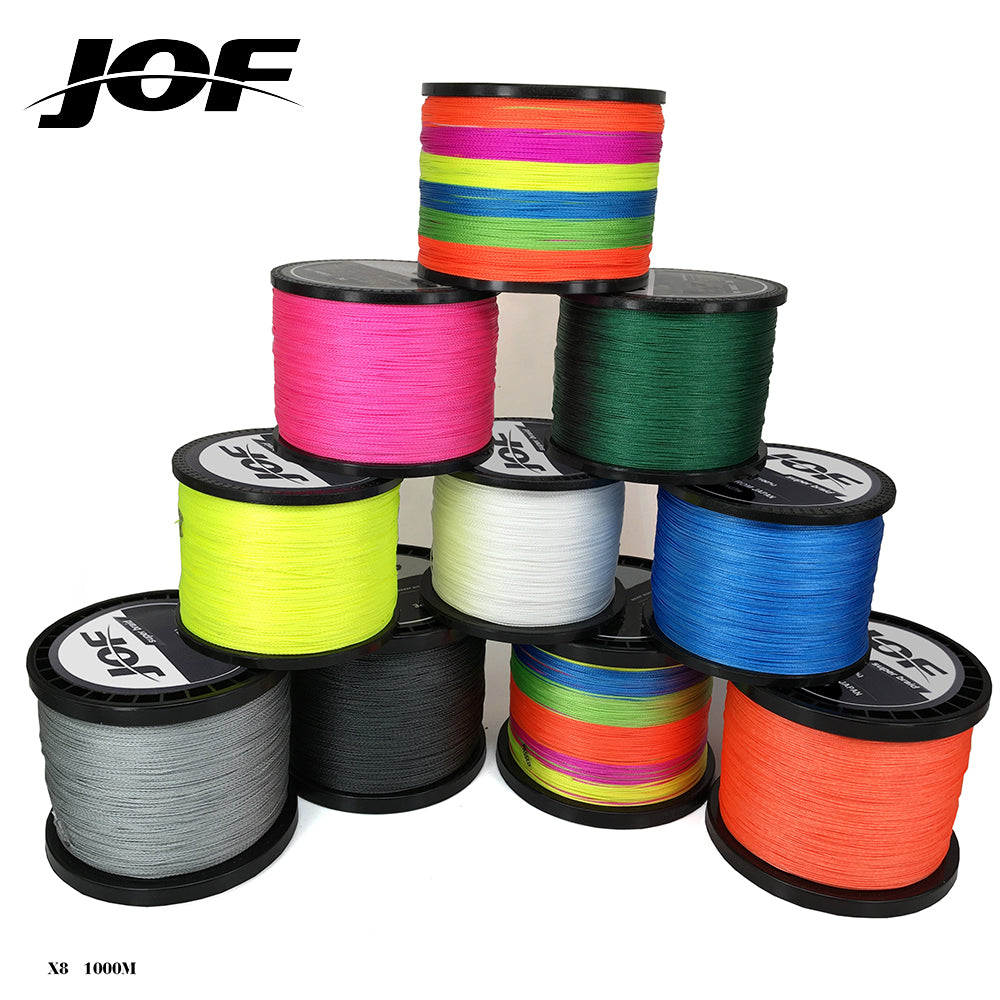 1000m Braided Fishing Line Super Power PE Fiber Line 8 Strands Multifilament Fishing Line Carp Fishing 15 20 30 40 50 60 80  LB