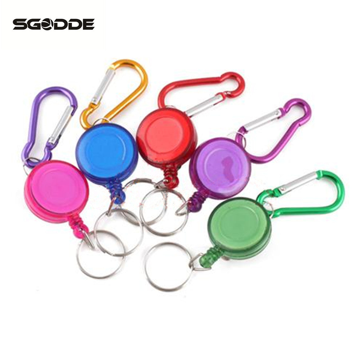 Mini Practical Multicolor Badge Spreader Carabiner Retractable Reel Strap Belt Clip Key Chain outdoor tools