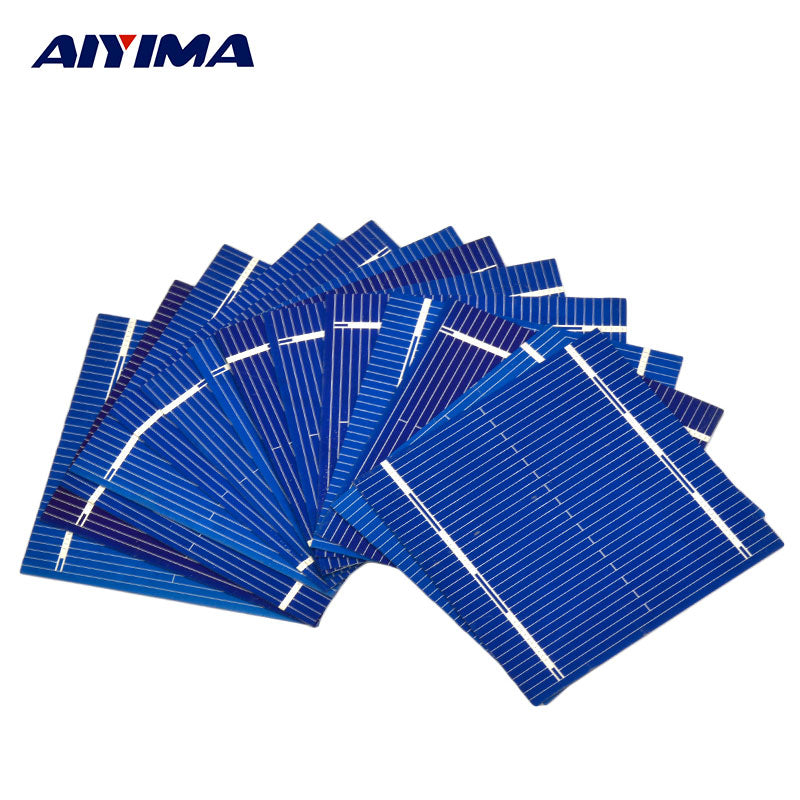 100Pcs Solar Panel Solars Cell 0.5V 0.46W Color Crystal Solar Module DIY Battery Charger 52x52MM Sun Power Bank