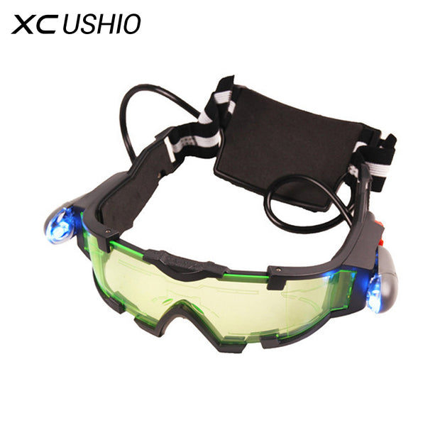 Eye Shield Hunting Night Vision Goggles Green LED Lights Ergonomic Goggles Night Vision Device Adjustable Elastic Band Children