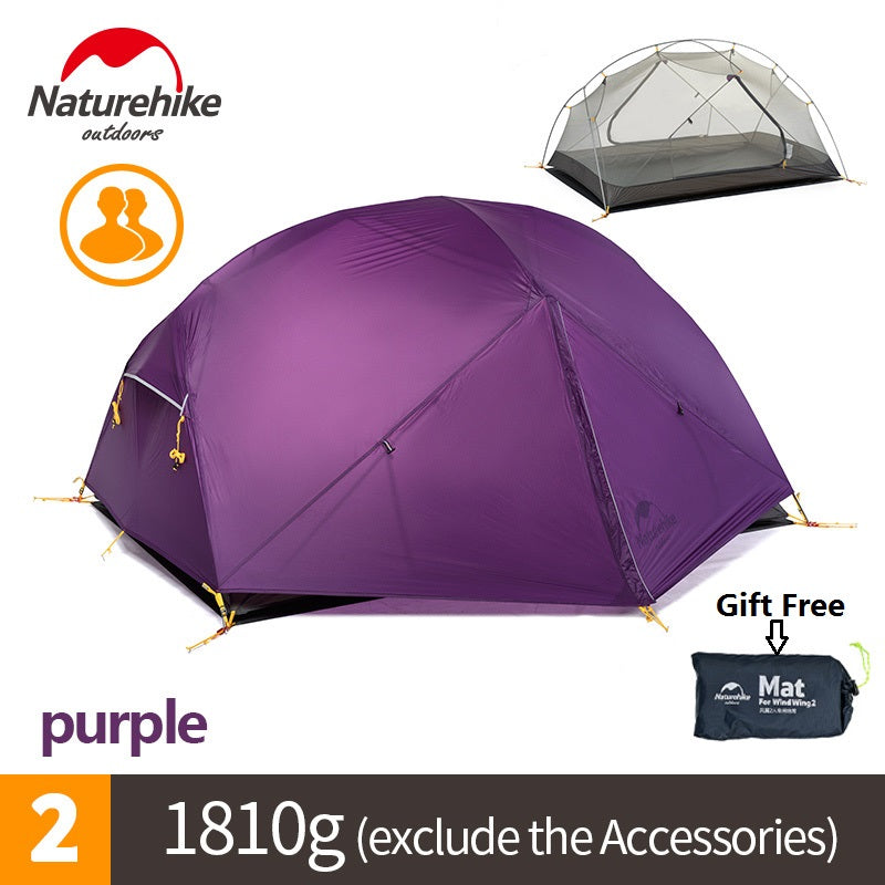 Naturehike DHL free shipping Mongar 2 Camping Tent Double Layers 2 Person Waterproof Ultralight Dome Tent