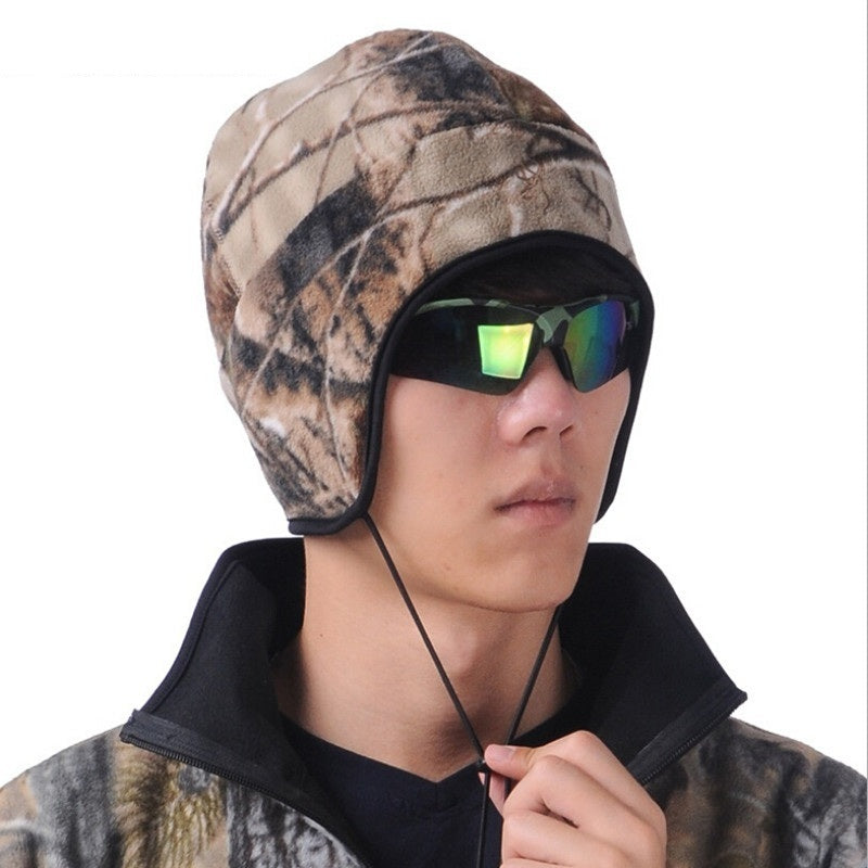 Browning Camouflage Camping Bonnet Bionic Camouflage Warm Earmuffs Cap Autumn and Winter No Brim Hunting Hats