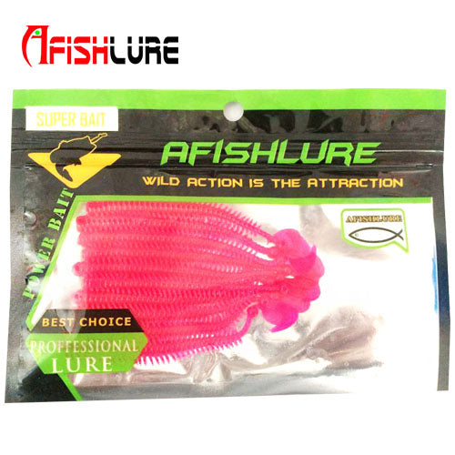 10pcs/lot Afishlure Artificial Sea Worms 95mm 1.7g Earthworm Soft Fishing Lures Soft Bait Lifelike earthworm Sea Fishing