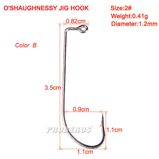 10PC Single Fishing Hook O'shaughnessy Series JIG Hook Jig Big Fish hook 9255-1#-8/0# JIG Hook ZB9072