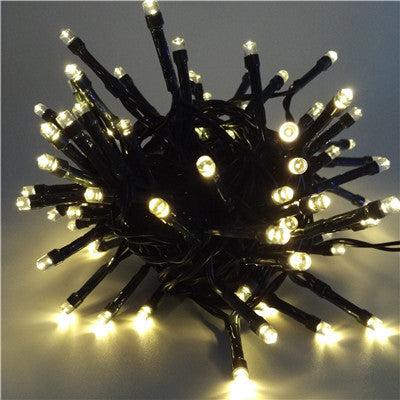 100LED 12M Solar Powered Led String Lights Waterproof Decorative Copper Globe  Outdoor Garden Patio Lantern Decoration Lights