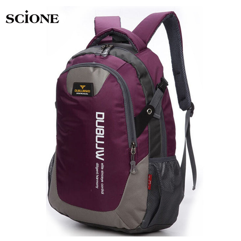 30L Nylon Sports Backpacks Teenage Girls Men's Laptop School Bag Large Outdoor Travel Backpack Waterproof Rucksack Blue XA1261A