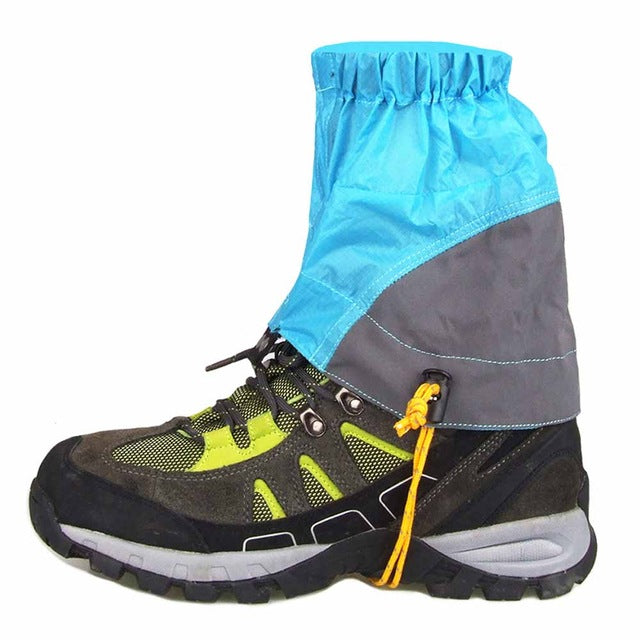 1 pair Hiking Gaiters Outdoor Silicon Coated Nylon Waterproof Ultralight Snow Legging Gaiters Protection Guard Climbing Trekking