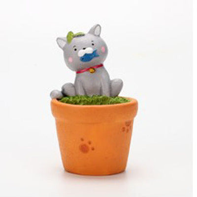 1pc Cute Cat Kitty Planter for Succulents Decorative Mini Flower Pot for Desktop Plant Bonsai Home Garden Decoration
