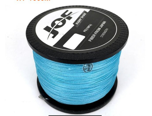 1000M Multifilament Fishing Line 100% PE Braided 4 threads fly fishing line for carping fishing 20 30 40 50 60 80 100lb