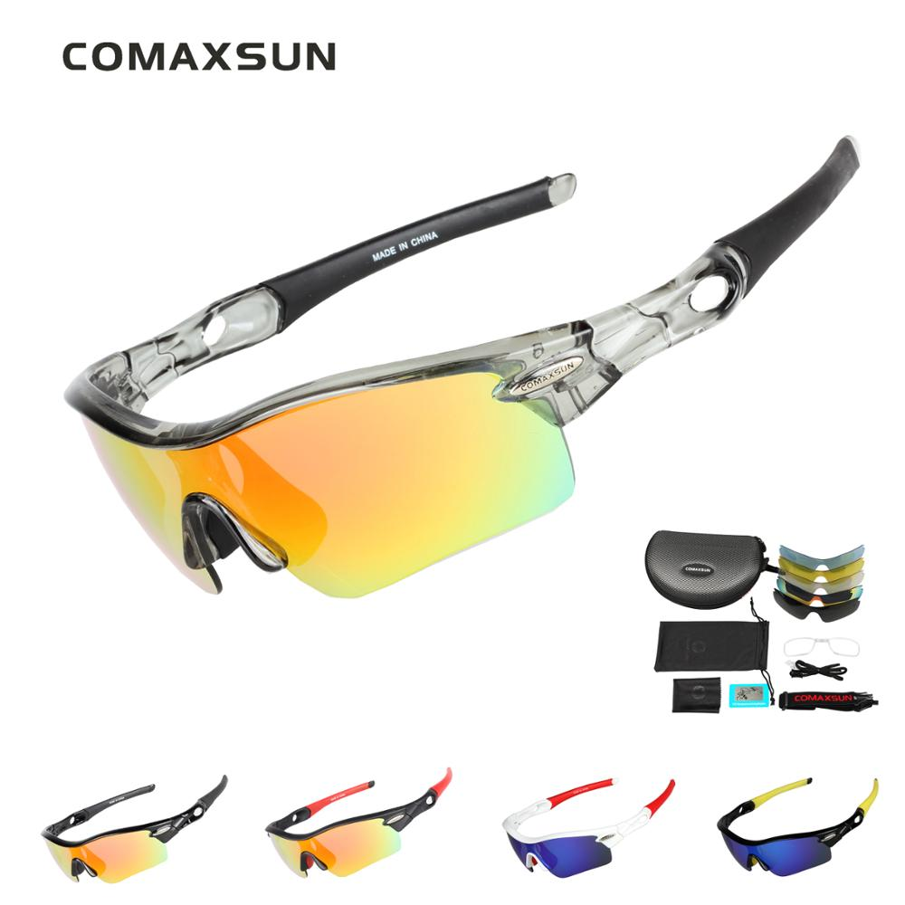 667a823ac1 COMAXSUN Professional Polarized Cycling Glasses Bike Goggles Sports Bicycle  Sunglasses UV 400 With 5 Lens 5