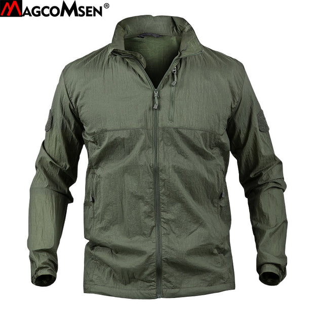 MAGCOMSEN Man Ultralight Skin Jackets Summer Portable Breathable Camouflage Waterproof Jacket Tactical Jacket Coat Man AG-PLY-26