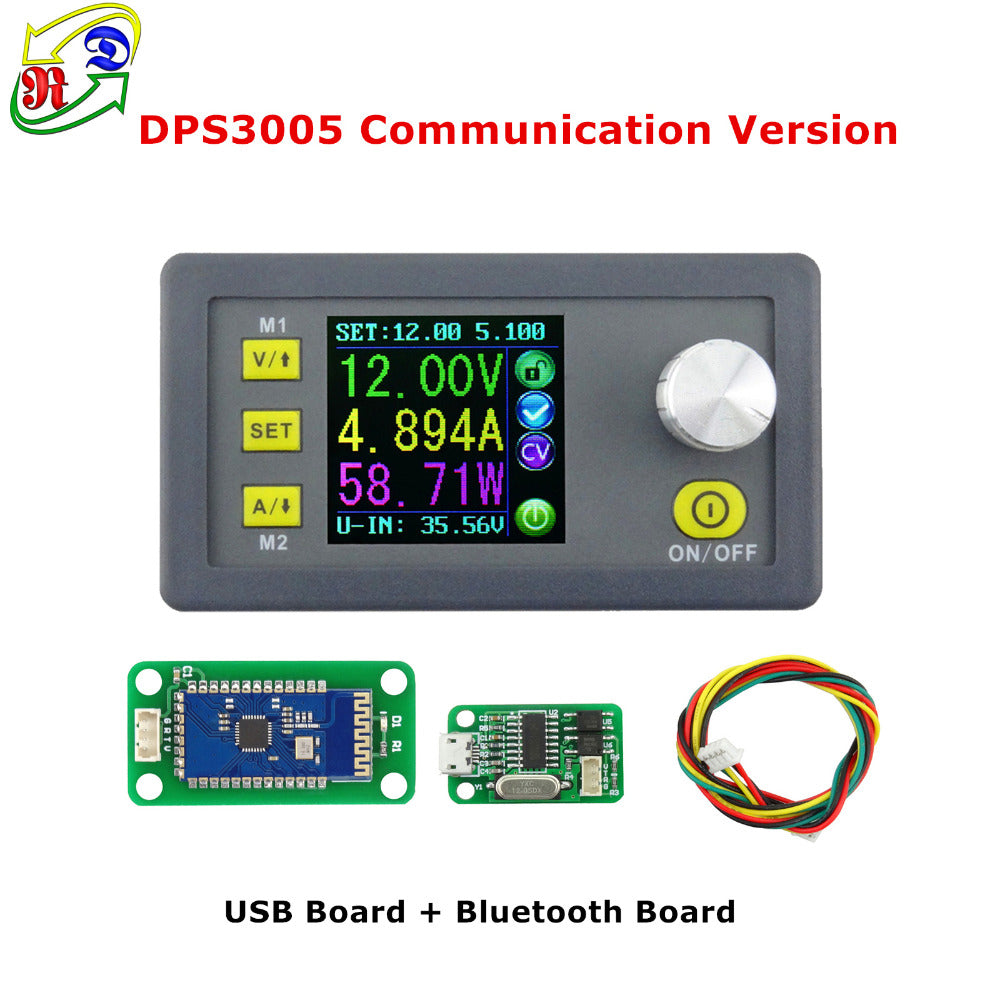 Rd Dps3005 Communication Function Constant Voltage Current Step Down To Converter Power Supply Module Lcd Voltmeter 30v 5a