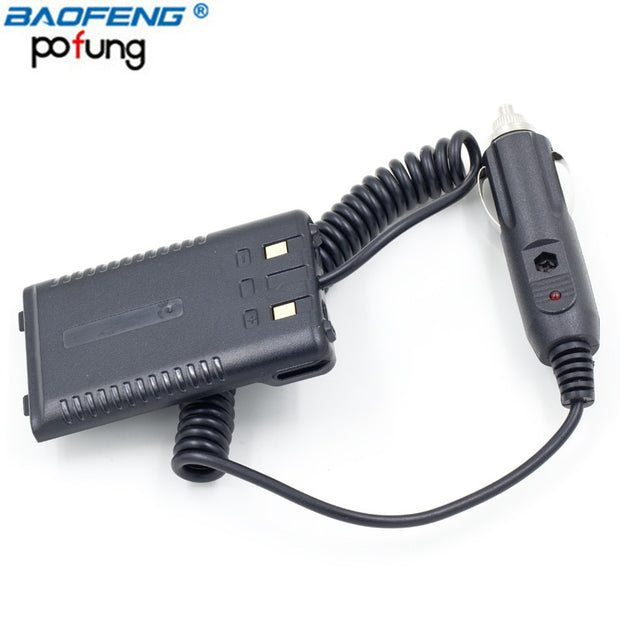 BAOFENG BF-UVB2 Plus UV-T8 Car Charger Vehicle Battery Eliminator for Walkie Talkie Dual Band Two Way Radio