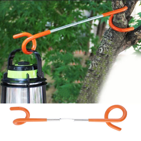 1pc 2 way Lantern Light Lamp Hanger Tent Pole Post Hook for Outdoor Camping free shipping
