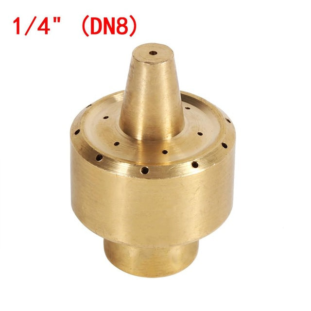 "1/4"" 1/2"" 3/4""  Brass Column Style Fountain Nozzle Garden Sprinklers Pond Fountain Water Nozzle Sprinkler Spray Fireworks Water"