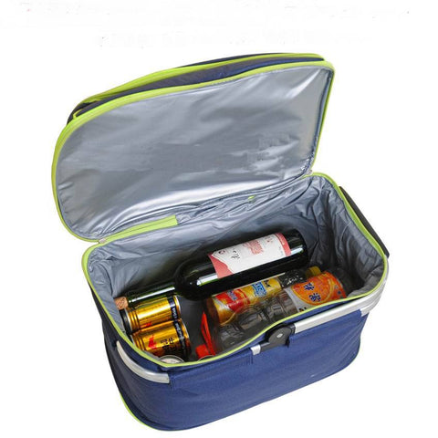 Outdoor Waterproof Oxford Picnic Basket Keep Cold Hot Insulation Folding Food Storage Lunch Bags Picnic Handbag Camping LunchBox