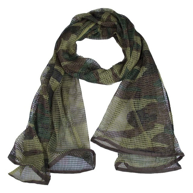 Unisex Mesh Tactical Scarf Hood Muslim Hijab Breathable Arabic Men Women Camouflage Scarf for Desert Outdoor Sports