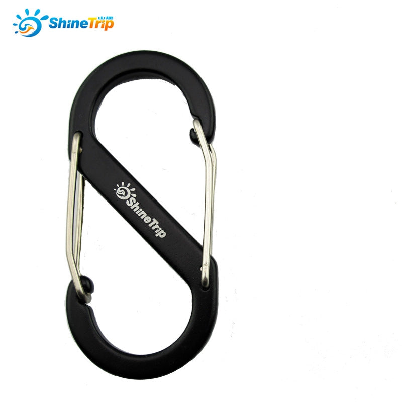 5pcs  S  Aluminum Alloy S Shape Carabiner Bottle Hook Buckle Survival Keychain EDC Tool Backpack Hanging Padlock Quick Release