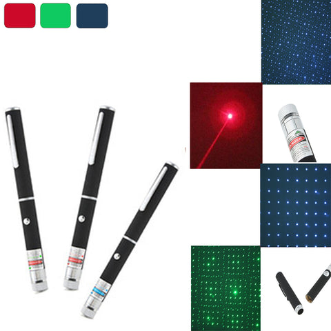 5mW Red/ Green/ blue Laser Pointer  Powerful 500M Laser Pen Professional Lazer pointer With 2*AAA Battery For Teaching