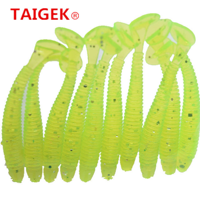 10 Pcs/pack 5cm 0.7g for  Fishing Worm Swimbait Jig Head Soft Lure Fly Fishing Bait Fishing Lure YR-200