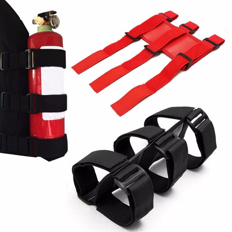 1pc Mayitr Red Black Car Roll Bar Fire Extinguisher Auto Fixed Holder Car Styling For Automobile Interior Safety Nylon Straps