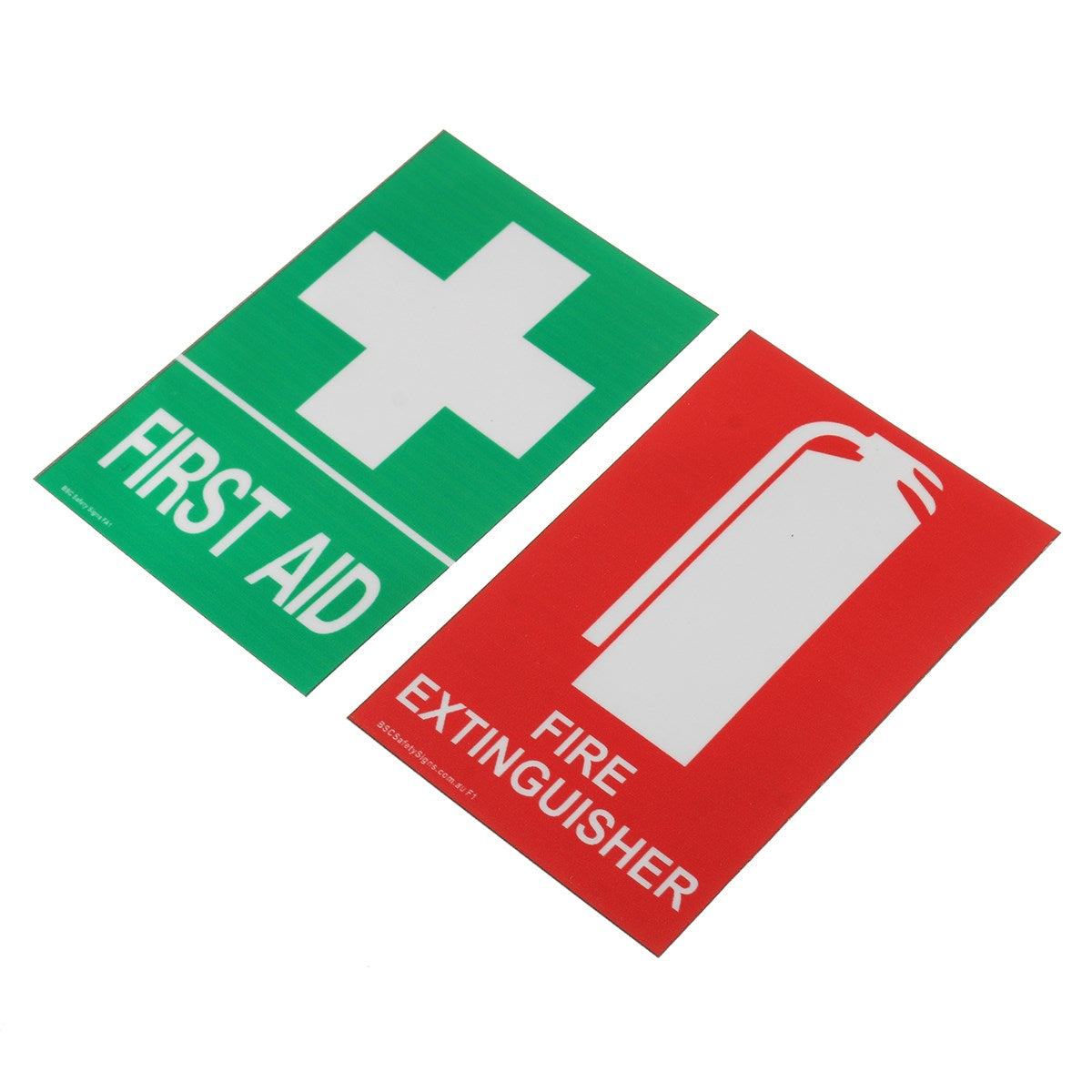 100x66mm first aid and fire extinguisher PVC Sticker Sign Decal Set OHS WH for outdoor Safety and Survival emergency urgent